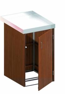 BINTO Mülltonnenbox Premium Hartholz System 1P