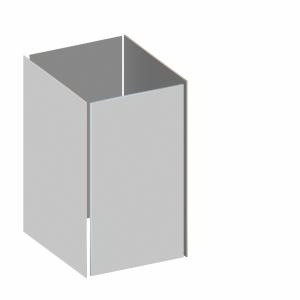 BINTO Mülltonnenbox - Grundverkleidung HPL lichtgrau