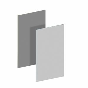 BINTO Mülltonnenbox Erweiterungsverkleidung HPL lichtgrau