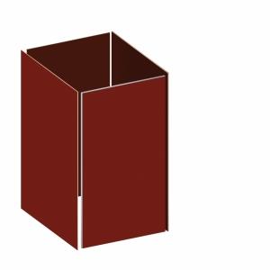 BINTO Mülltonnenbox - Grundverkleidung HPL - rot