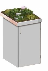 BINTO Mülltonnenbox - HPL lichtgrau System 1P