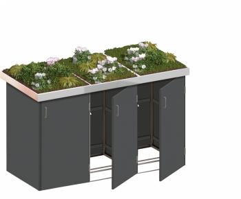 BINTO Mülltonnenbox - HPL schiefer System 3P