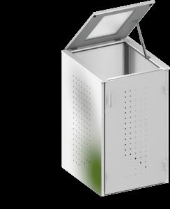 BINTO Mülltonnenbox Edelstahl System 1K
