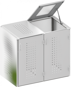 BINTO Mülltonnenbox Edelstahl System 2K