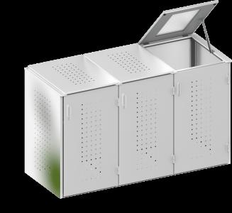 BINTO Mülltonnenbox Edelstahl System 3K
