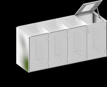 BINTO Mülltonnenbox Edelstahl System 4K