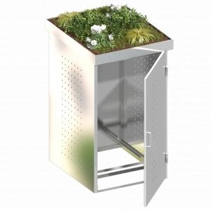 BINTO Mülltonnenbox Edelstahl System 1P