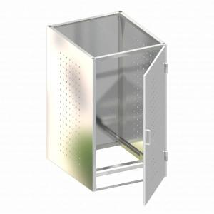 BINTO Mülltonnenbox Grundverkleidung Edelstahl
