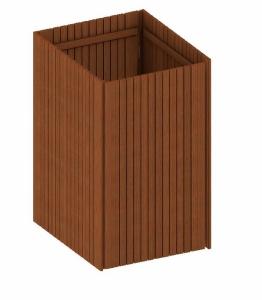 BINTO Mülltonnenbox Grundverkleidung Premium Hartholz