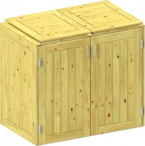 BINTO Holz Mülltonnenbox System 3