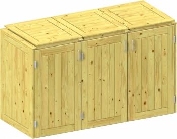 BINTO Holz Mülltonnenbox System 3K