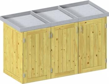 BINTO Holz Mülltonnenbox System 6