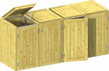 BINTO Holz Mülltonnenbox System 7