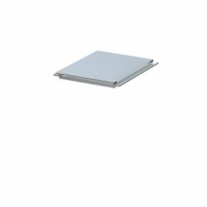 BINTO Mülltonnenbox Klappdeckel HPL lichtgrau inkl. Beschlagsatz