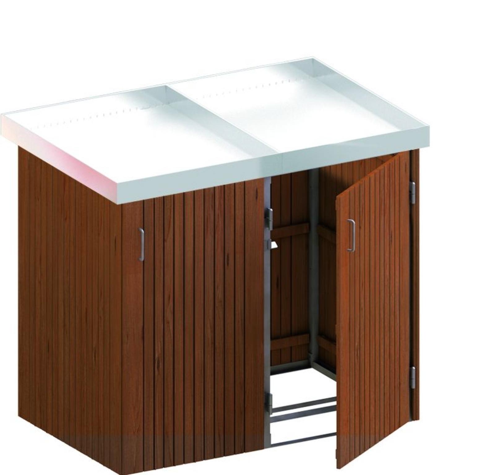 mülltonnenbox premium hartholz system 2p