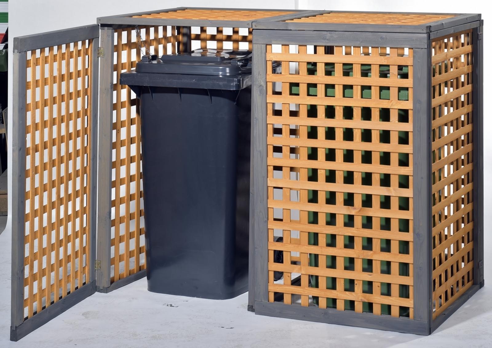 m lltonnenverkleidung kaprun f r zwei tonnen. Black Bedroom Furniture Sets. Home Design Ideas