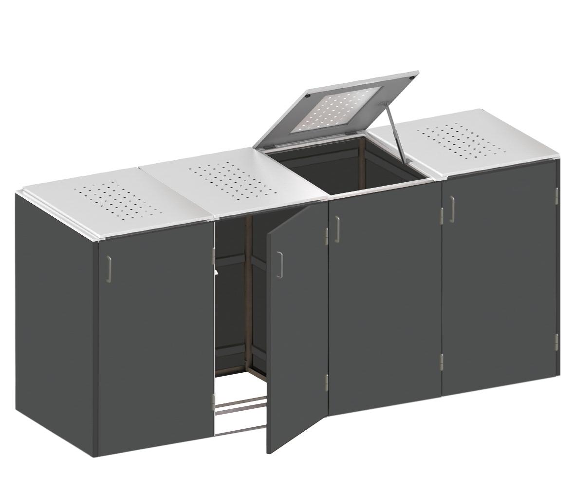 binto m lltonnenbox hpl schiefer edelstahl system e4k. Black Bedroom Furniture Sets. Home Design Ideas