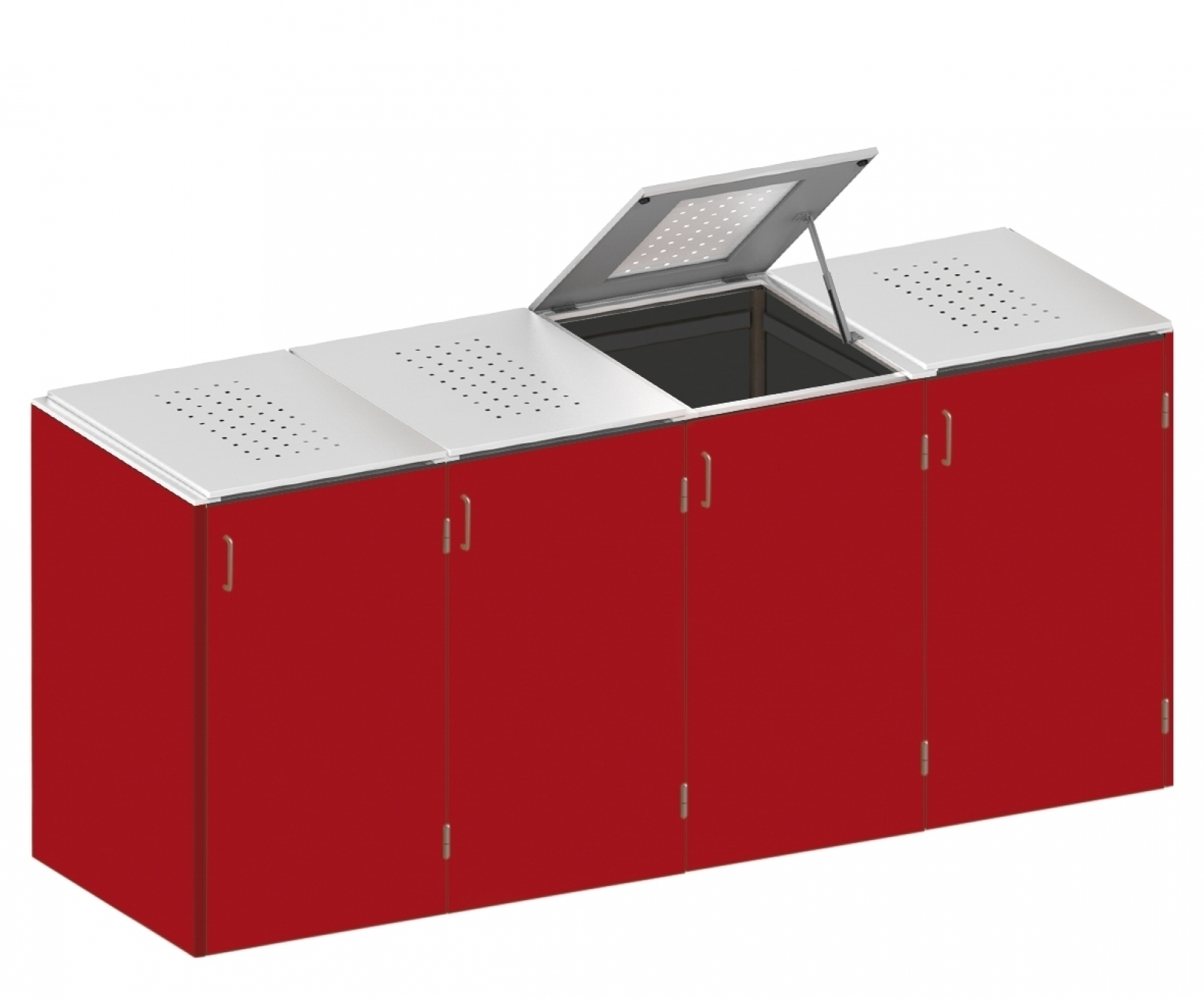 binto mülltonnenbox hpl rot- edelstahl system e4k