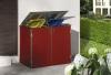 BINTO Mülltonnenbox - HPL Rot - Edelstahl System E2K