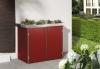 BINTO Mülltonnenbox - HPL rot System 2P