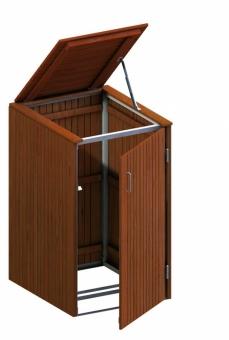 BINTO Mülltonnenbox Premium Hartholz System 1K