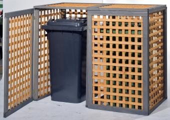 Mülltonnenverkleidung Kaprun - für zwei Tonnen
