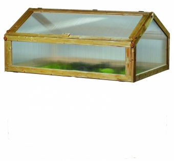GASPO Frühbeetaufsatz 130cm für Hochbeet - honigfarben