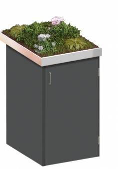 BINTO Mülltonnenbox - HPL schiefer System 1P