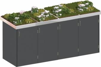 BINTO Mülltonnenbox - HPL schiefer System 4P