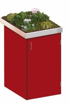BINTO Mülltonnenbox - HPL rot System 1P