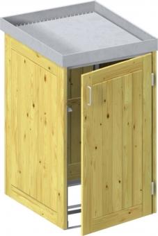 BINTO Holz Mülltonnenbox System 1P