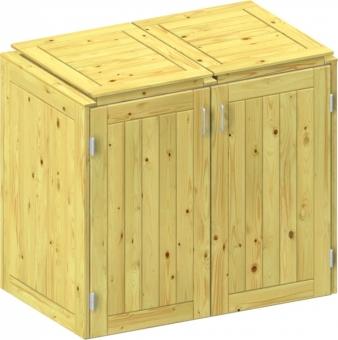 BINTO Holz Mülltonnenbox System 2K