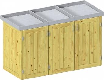 BINTO Holz Mülltonnenbox System 3P