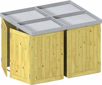 BINTO Holz Mülltonnenbox System 4PV