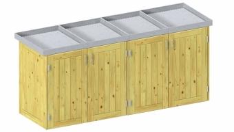 BINTO Holz Mülltonnenbox System 4P