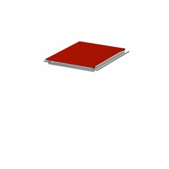 BINTO Mülltonnenbox Klappdeckel HPL Rot inkl. Beschlagsatz