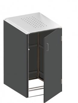 BINTO Mülltonnenbox - HPL Schiefer-Edelstahl System E1K