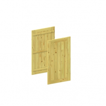 BINTO Mülltonnenbox Erweiterungsverkleidung Holz